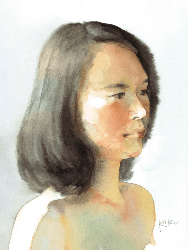 菊色の自画像