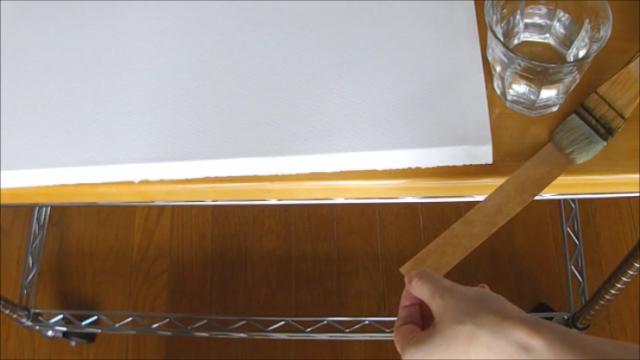 水張り木製パネル 手順8