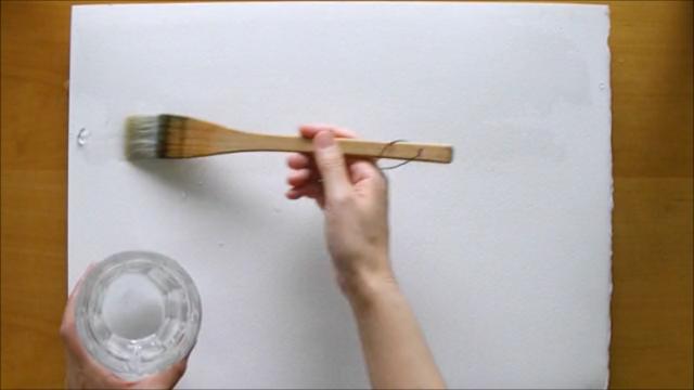 水張り木製パネル 手順3