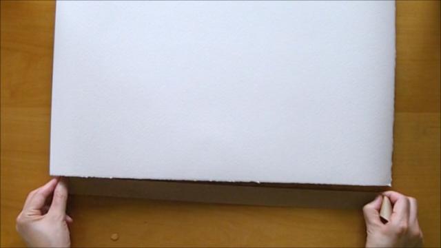 水張り木製パネル 手順4