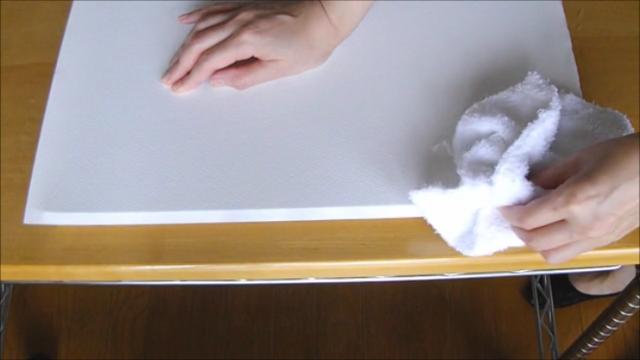 水張り木製パネル 手順7