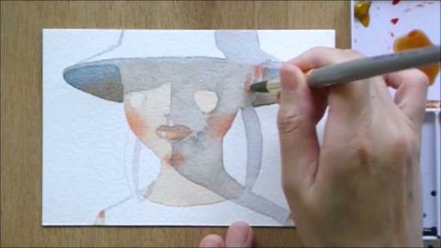 帽子の少女 塗り絵手順10
