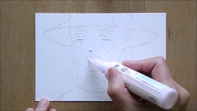 帽子の少女 塗り絵手順2