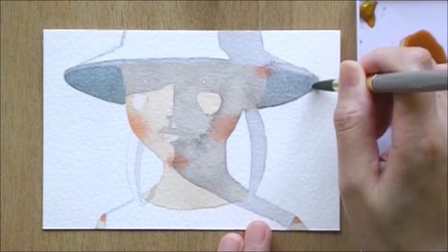 帽子の少女 塗り絵手順8