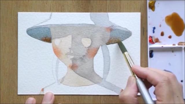 帽子の少女 塗り絵手順9