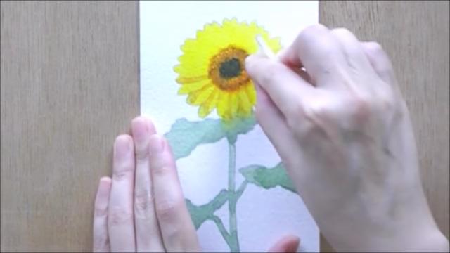 ひまわり 塗り絵手順9