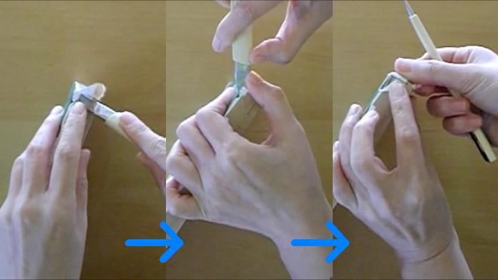 水張りの外し方 手順3