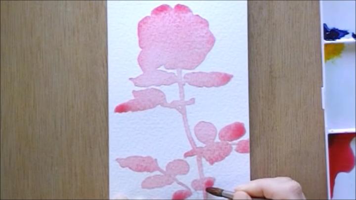 バラ 塗り絵手順2