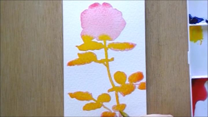 バラ 塗り絵手順3