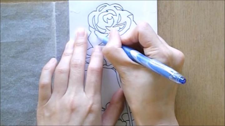 バラ 塗り絵手順5