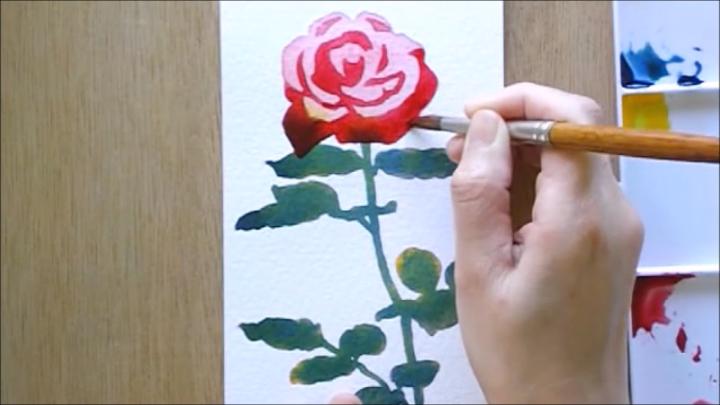 バラ 塗り絵手順6