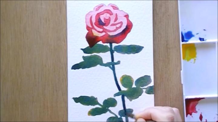バラ 塗り絵手順8