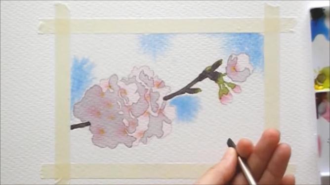桜 塗り絵手順10