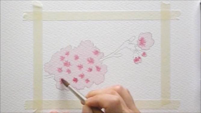 桜 塗り絵手順4